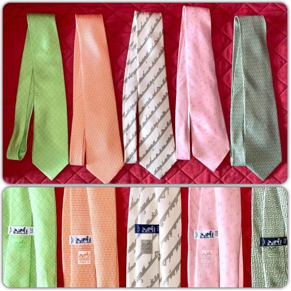 Hermes Other - SOLD! Hermes Mens Ties 100% Silk Tie Lot of 5